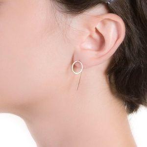 Jewelry - Handmade 14k Gold-fill Circle Hook Earrings
